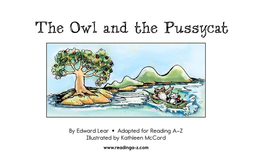 Book Preview For The Owl and the Pussycat Page 2