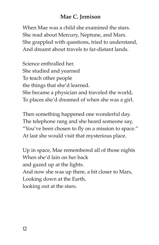 Book Preview For Making Changes: Poems About Great African Americans Page 12