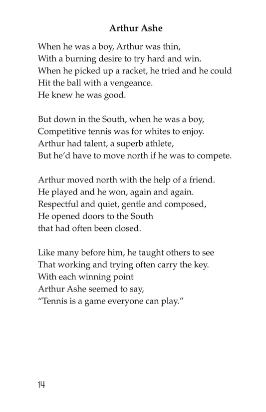 Book Preview For Making Changes: Poems About Great African Americans Page 14