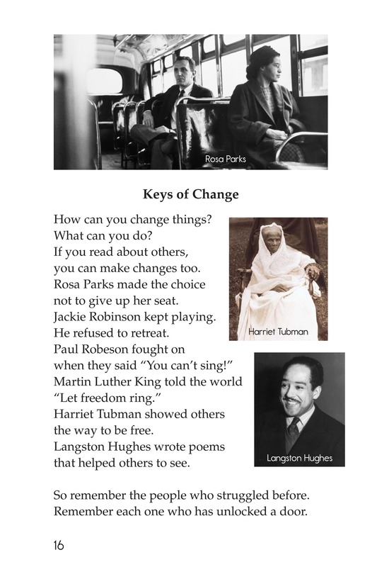 Book Preview For Making Changes: Poems About Great African Americans Page 16