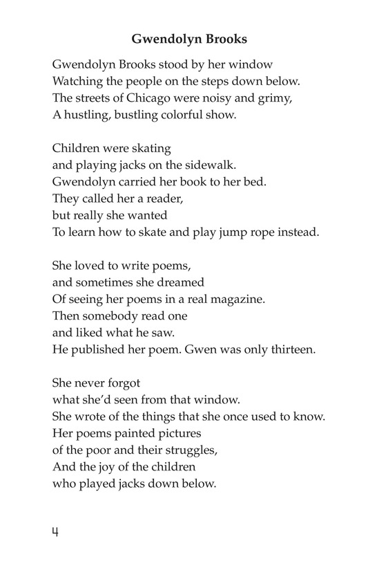 Book Preview For Making Changes: Poems About Great African Americans Page 4