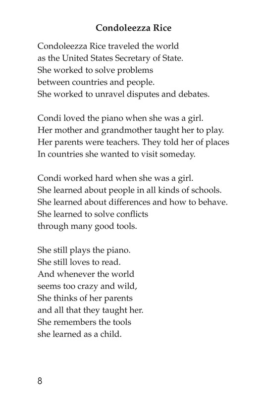 Book Preview For Making Changes: Poems About Great African Americans Page 8