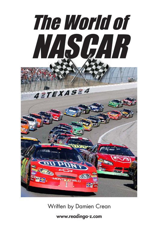 Book Preview For The World of NASCAR Page 2