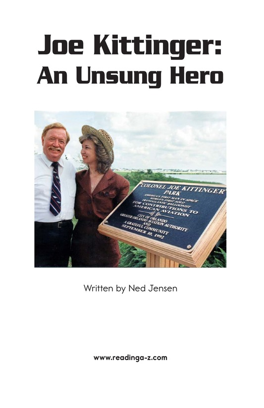 Book Preview For Joe Kittinger: An Unsung Hero Page 2