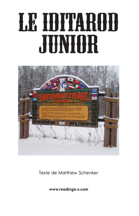 Book Preview For The Jr. Iditarod Page 2