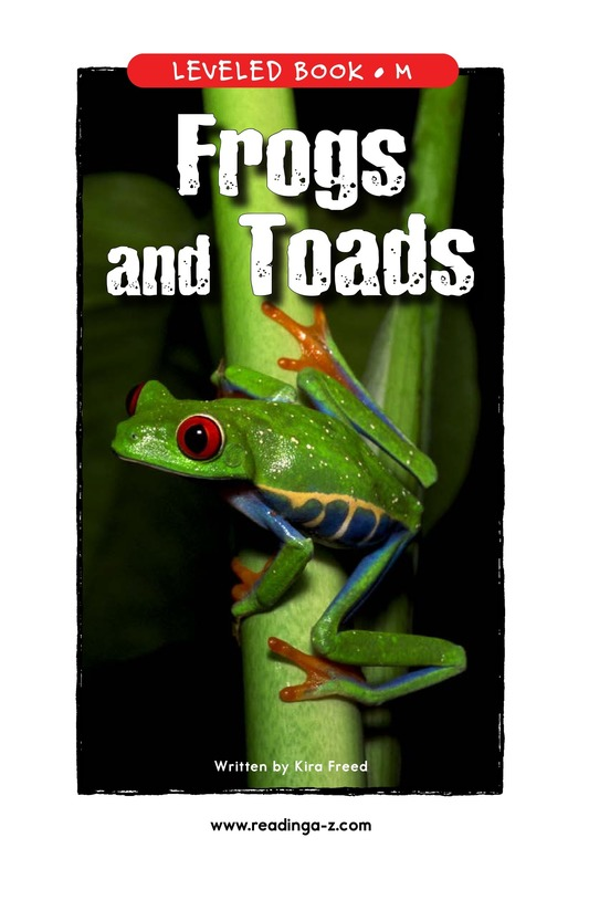 Book Preview For Frogs and Toads Page 1