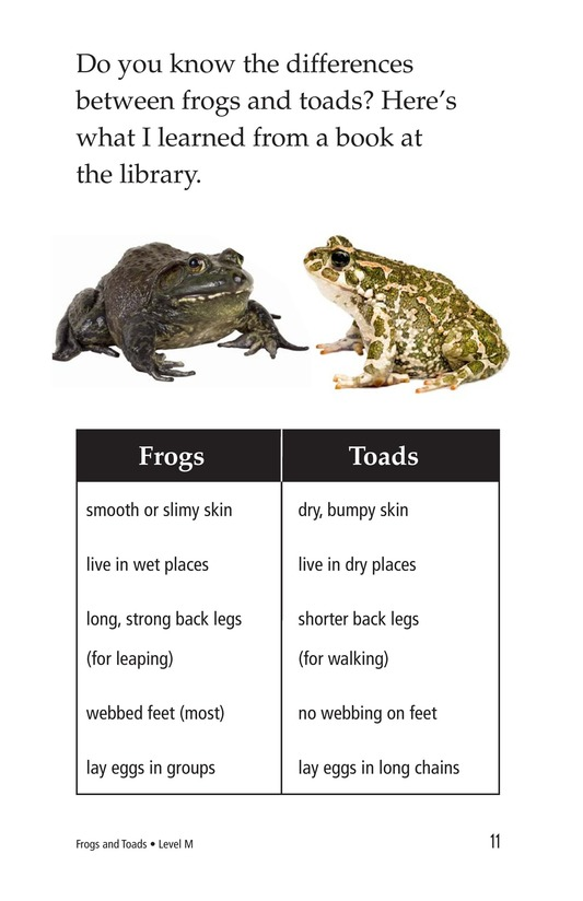 Book Preview For Frogs and Toads Page 11