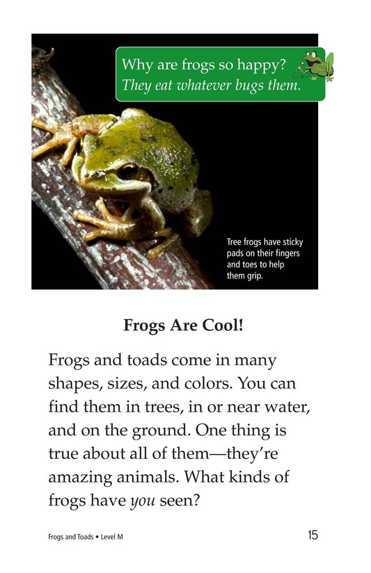 Book Preview For Frogs and Toads Page 15