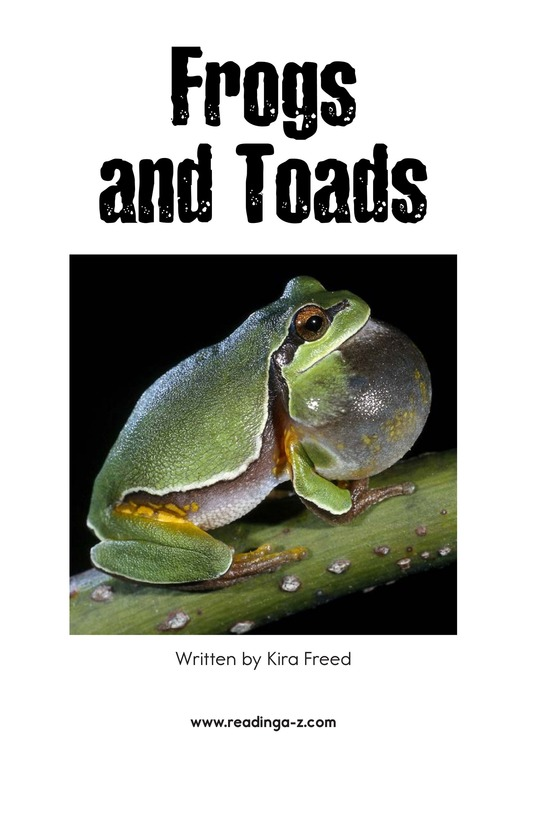 Book Preview For Frogs and Toads Page 2