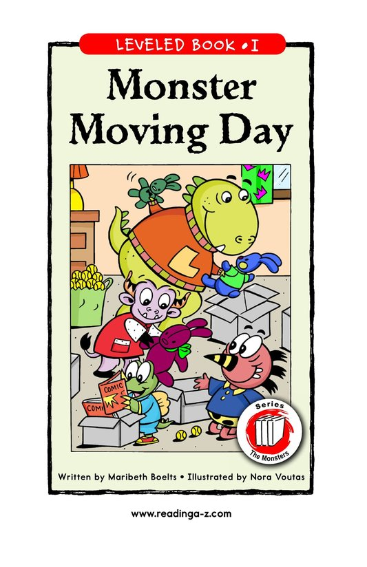 Book Preview For Monster Moving Day Page 1