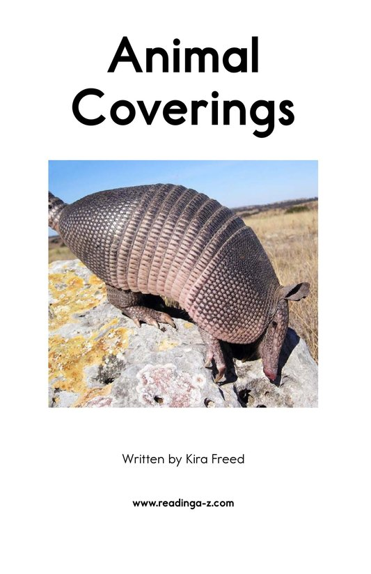 Book Preview For Animal Coverings Page 2
