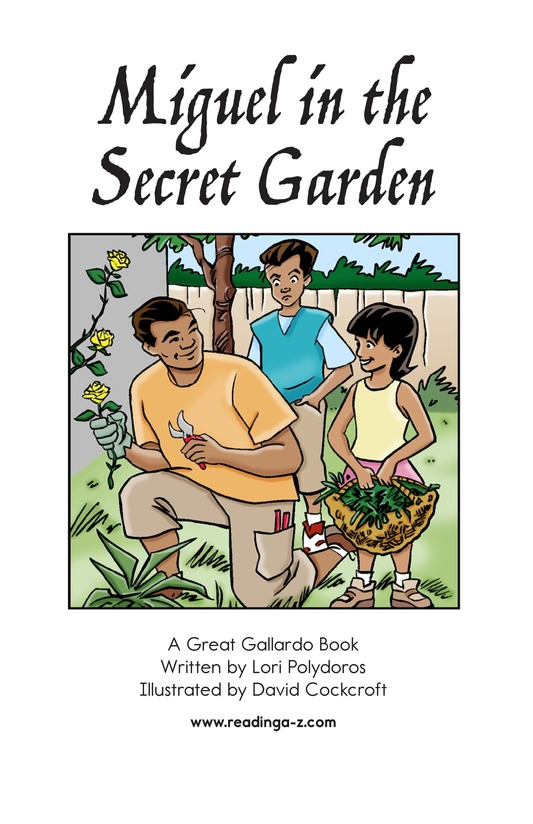 Book Preview For Miguel in the Secret Garden Page 2