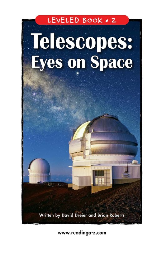 Book Preview For Telescopes: Eyes on Space Page 1