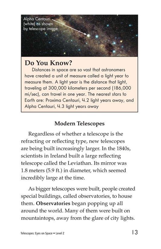 Book Preview For Telescopes: Eyes on Space Page 13