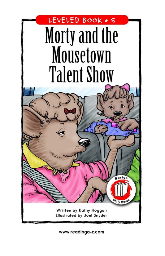 Book Preview For Morty and the Mousetown Talent Show Page 1