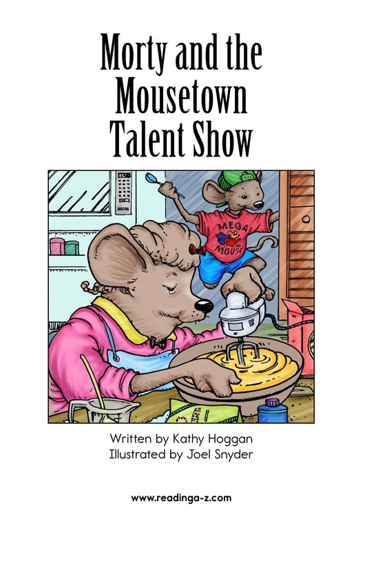 Book Preview For Morty and the Mousetown Talent Show Page 2