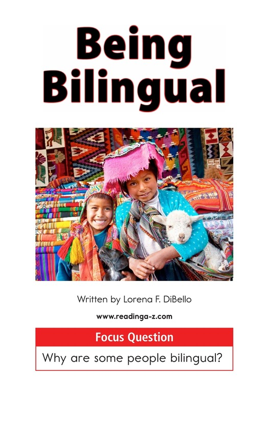 Book Preview For Being Bilingual Page 1