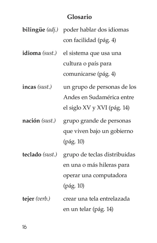 Book Preview For Being Bilingual Page 16