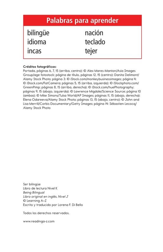 Book Preview For Being Bilingual Page 2