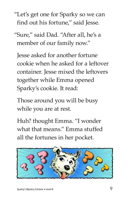 Book Preview For Sparky's Mystery Fortune Page 9
