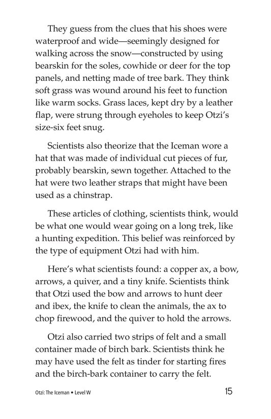Book Preview For Otzi: The Iceman Page 15