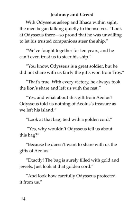 Book Preview For Odysseus and the Bag of Winds Page 14