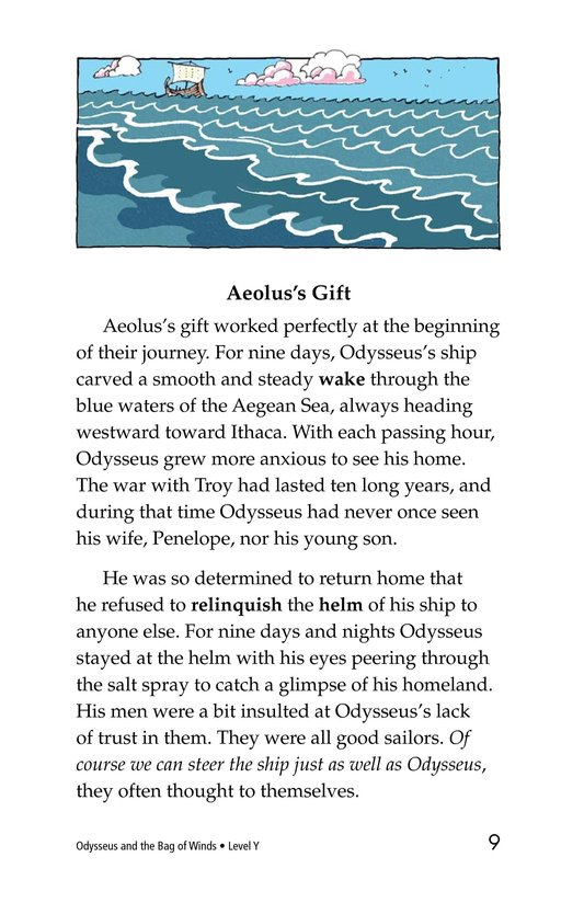 Book Preview For Odysseus and the Bag of Winds Page 9
