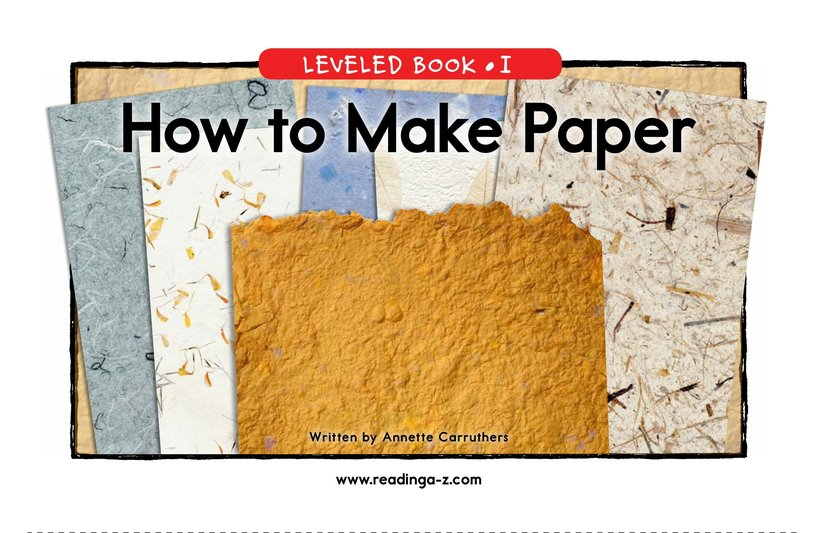 Book Preview For How to Make Paper Page 1