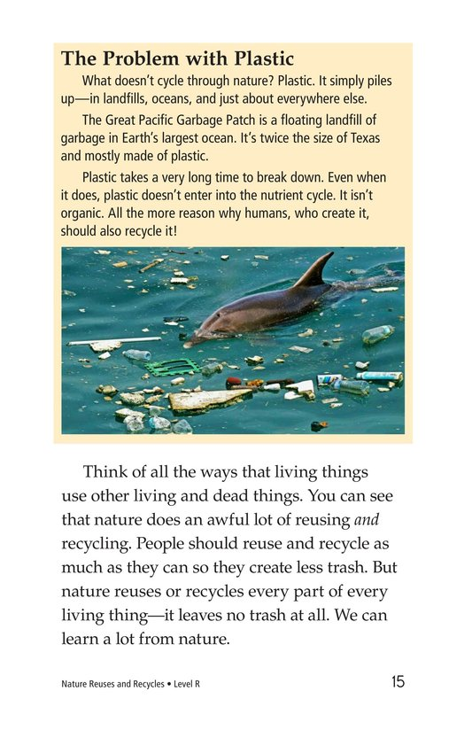Book Preview For Nature Reuses and Recycles Page 15