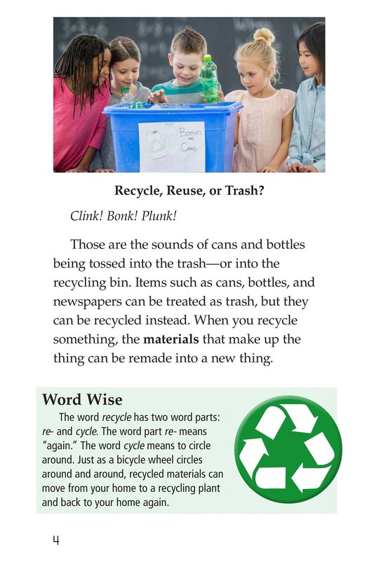 Book Preview For Nature Reuses and Recycles Page 4