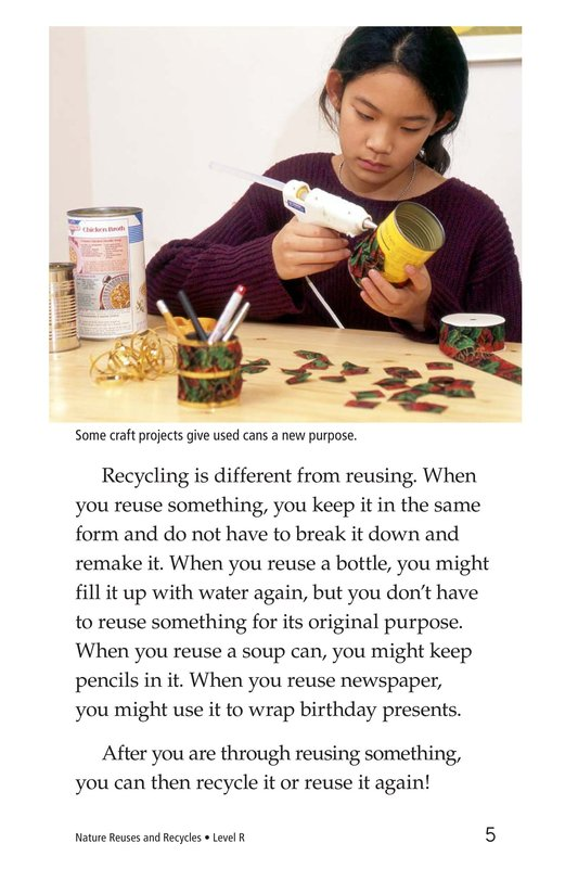 Book Preview For Nature Reuses and Recycles Page 5