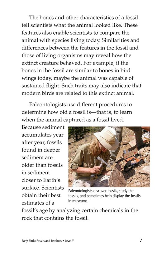 Book Preview For Early Birds: Fossils and Feathers Page 7