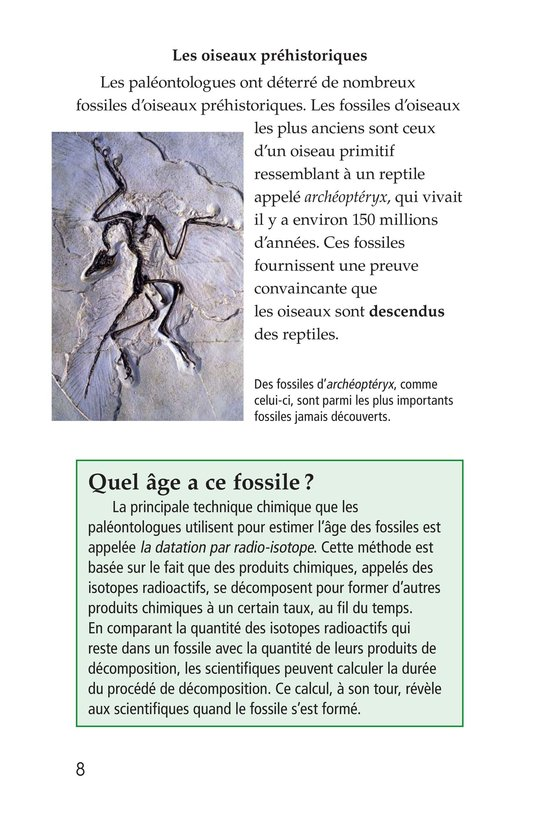 Book Preview For Early Birds: Fossils and Feathers Page 8