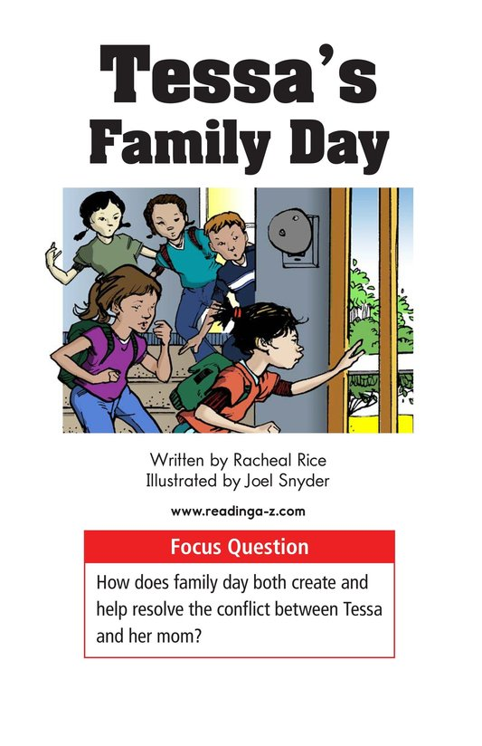 Book Preview For Tessa's Family Day Page 1