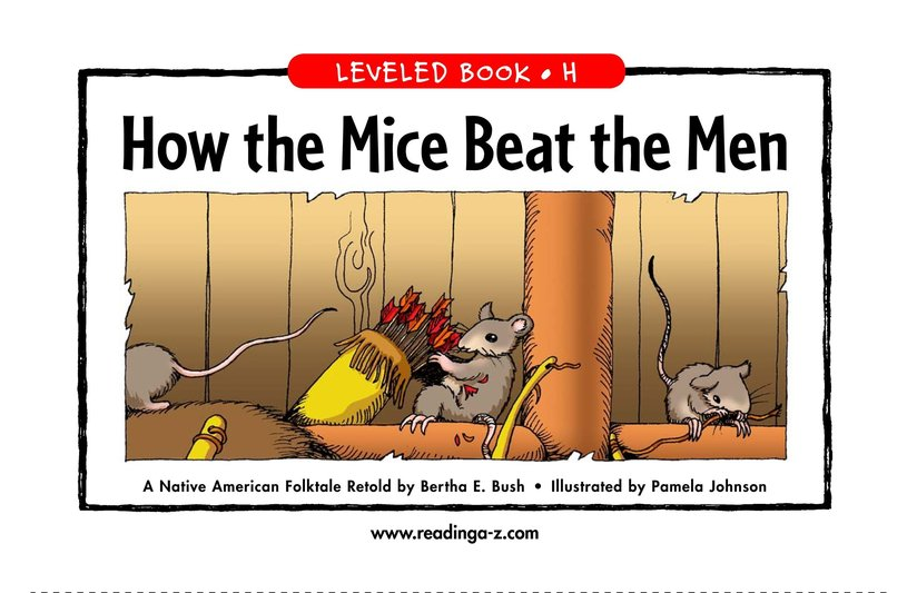 Book Preview For How the Mice Beat the Men Page 1
