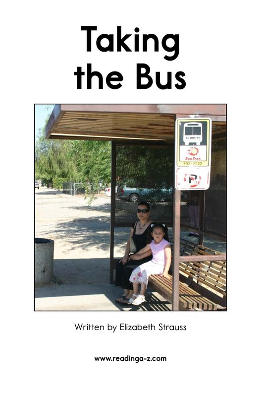 Book Preview For Taking the Bus Page 2