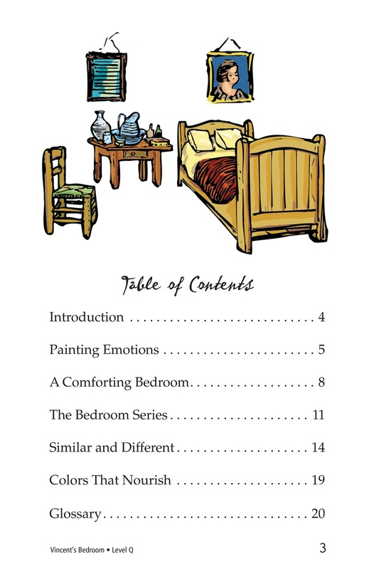 Book Preview For Vincent's Bedroom Page 3