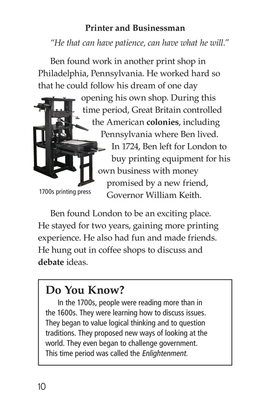 Book Preview For Ben Franklin Page 10