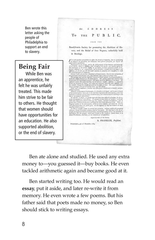 Book Preview For Ben Franklin Page 8