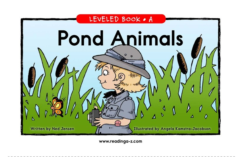 Book Preview For Pond Animals Page 1