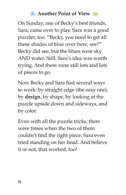 Book Preview For Becky's Puzzle Problem Page 14