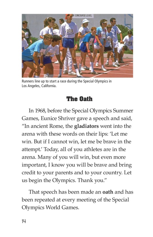 Book Preview For Mike Van Zee, Special Olympian Page 14