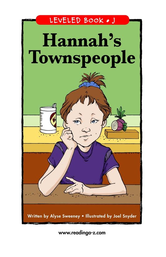 Book Preview For Hannah's Townspeople Page 1