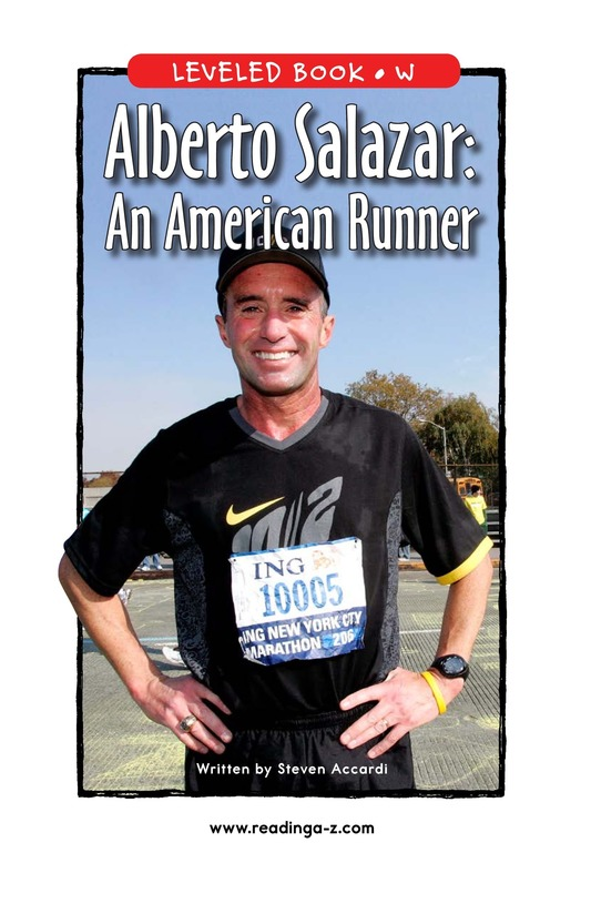 Book Preview For Alberto Salazar: An American Runner Page 1