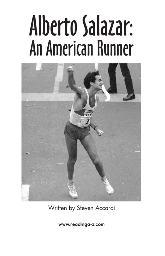 Book Preview For Alberto Salazar: An American Runner Page 2