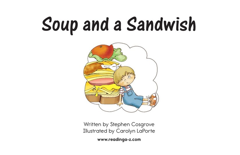 Book Preview For Soup and a Sandwish Page 2