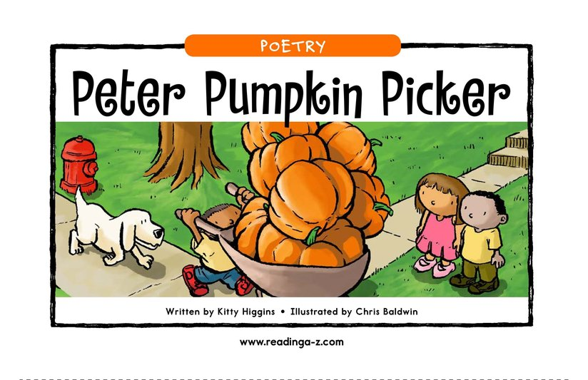 Book Preview For Peter Pumpkin Picker Page 1