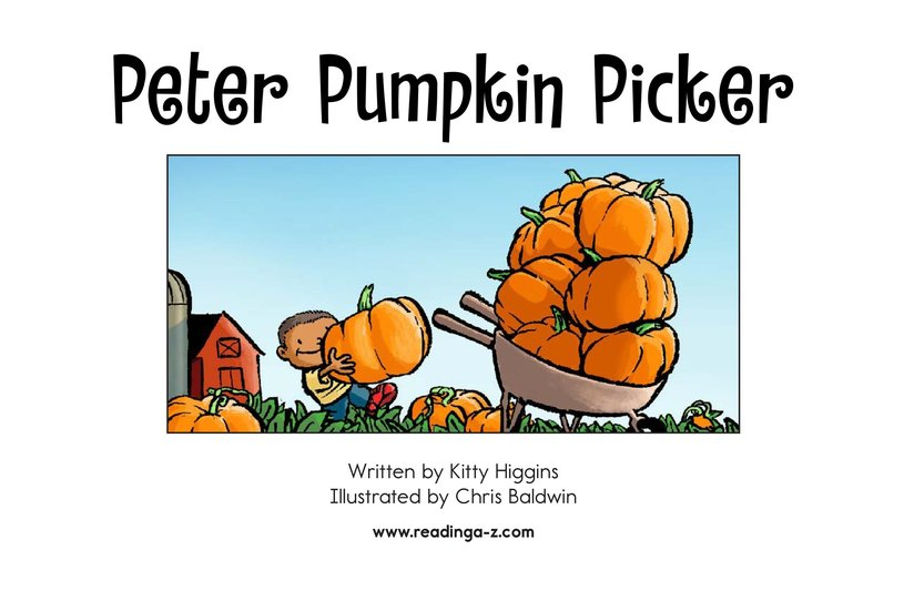 Book Preview For Peter Pumpkin Picker Page 2