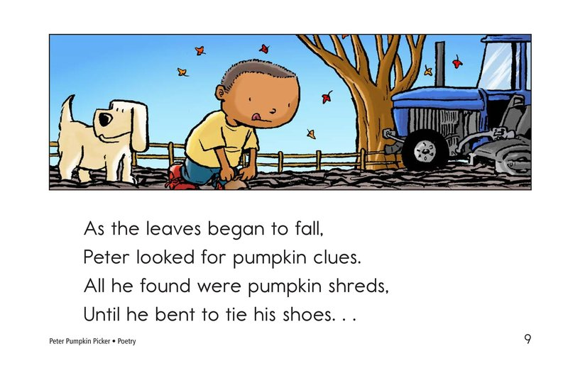 Book Preview For Peter Pumpkin Picker Page 9