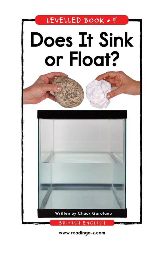 Book Preview For Does It Sink or Float? Page 1